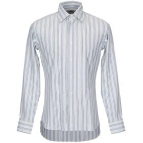 《期間限定セール開催中!》PIOMBO メンズ シャツ アジュールブルー 41 コットン 100%