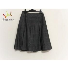 ヨシエイナバ スカート サイズ38 M レディース 美品 黒×ライトグレー×レッド チェック柄     スペシャル特価 20191028