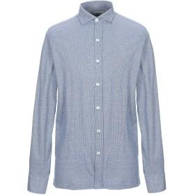 《期間限定セール開催中!》GIAMPAOLO メンズ シャツ ブルー S コットン 100%