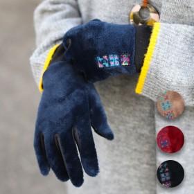 手袋 - チチカカ チチカカ ボア刺繍グローブ zhwccc7099ボア レディース