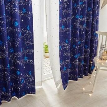 キラキラ箔プリントの遮光・遮熱カーテン