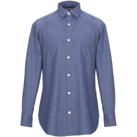 《セール開催中》GIAMPAOLO メンズ シャツ ブルー 39 コットン 100%