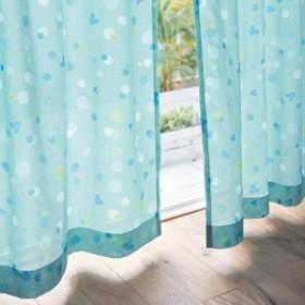 UVカット・遮熱水彩タッチプリントボイルカーテン