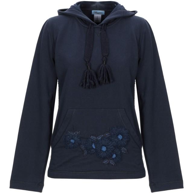 《セール開催中》BLUMARINE レディース スウェットシャツ ダークブルー II コットン 80% / ポリエステル 20%