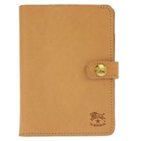 【並行輸入品】IL BISONTE イル ビゾンテ 60サイズ C0343/120 メンズ 二つ折り財布 ベージュ ワンポイント