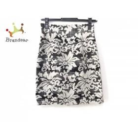 ジャスグリッティー JUSGLITTY スカート サイズ0 XS レディース 美品 ライトグレー×黒 花柄     スペシャル特価 20190730