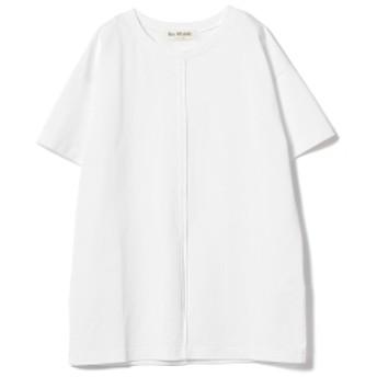 Ray BEAMS / スリット チュニックTシャツ レディース Tシャツ WHITE ONE SIZE
