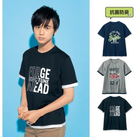 8444df4c8d81e 半袖切替えTシャツ ジュニア服 子供服 男の子  通販 LINEポイント最大 ...