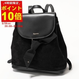 90f86c11eb6a repetto レペット M0527CVBX Duo backpack レザー リュック バックパック 410/Noir レディース
