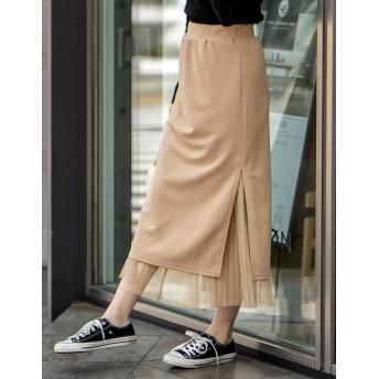 その他スカート - Re: EDIT 表と裏どっちも使えるチュールプリーツスカート リバーシブルチュールプリーツスカート ボトムス/スカート/ロング・マキシ丈(76cm~)