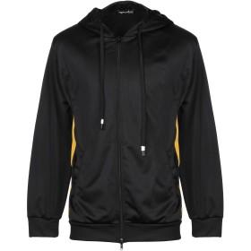 《セール開催中》PEOPLEHOUSE メンズ スウェットシャツ ブラック S コットン 95% / ポリウレタン 5%