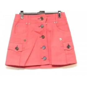 【中古】 バーバリーブルーレーベル Burberry Blue Label 巻きスカート サイズ36 S レディース ピンク