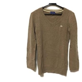 【中古】 バーバリーブルーレーベル 長袖セーター サイズ38 M メンズ ブラウン Vネック