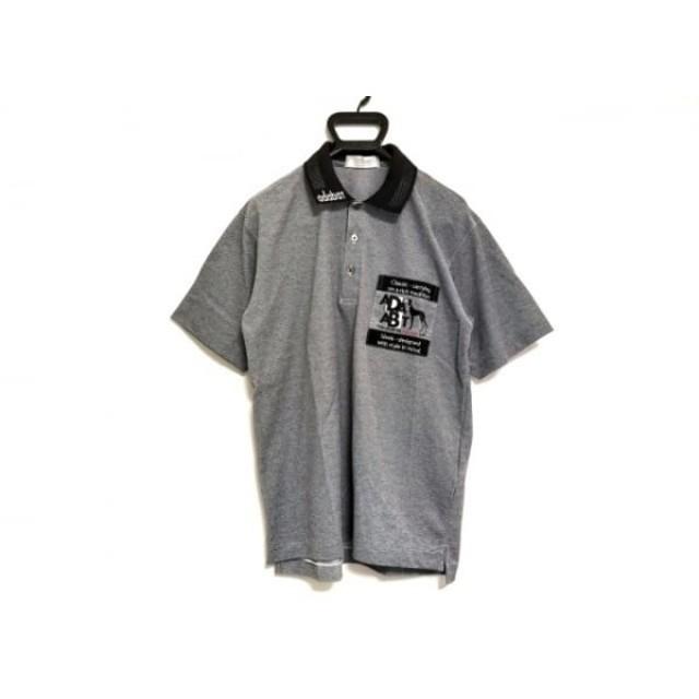 【中古】 アダバット Adabat 半袖ポロシャツ メンズ グレー 黒