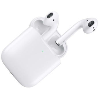 AirPods (エアーポッズ/第2世代) with Wireless Charging Case 2019年 新型 ブルートゥースイヤホン フルワイヤレス インナーイヤー型 MRXJ2J/A 【純正】 [ワイヤレス(左右分離) /Bluetooth]