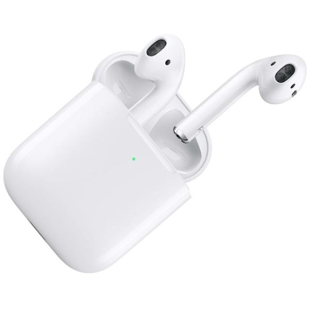 AirPods (エアーポッズ/第2世代) with Wireless Charging Case 2019年 新型 ブルートゥースイヤホン フルワイヤレス インナーイヤー型 MRXJ2J/A 【純正】 [ワイヤレス(左右分離) /Bluetooth]