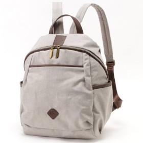 バッグ カバン 鞄 レディース リュック 多収納リュックサック カラー 「グレー」