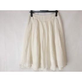 【中古】 アマカ AMACA スカート サイズ36 S レディース アイボリー レース/刺繍