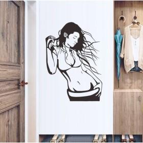 ウォールステッカー 壁紙シール 女性 女の子 ステッカー 雑貨 壁 壁紙 シール リビング 小物 DIY リメイク リフォーム おしゃれ オシャレ イ