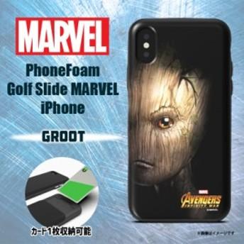 iPhone XS iPhone X ハードケース PHFGSI18A-GRO【0163】 MARVEL マーベル カード収納 グルート ROOX