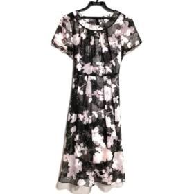 【中古】 アリスバーリー Aylesbury ワンピース サイズ9 M レディース 美品 黒 ピンク 花柄