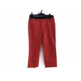 【中古】 ニジュウサンク 23区 パンツ サイズ38 M レディース レッド 黒 ウエストゴム