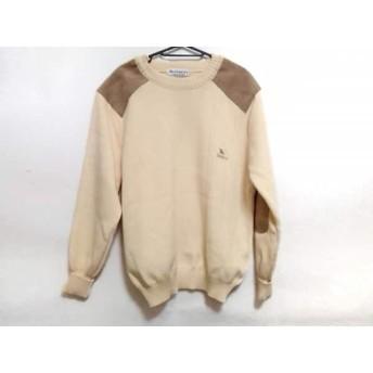 【中古】 バーバリーズ Burberry's 長袖セーター サイズL メンズ アイボリー ベージュ