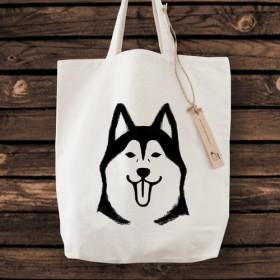 シベリアンハスキー トートバッグ 犬