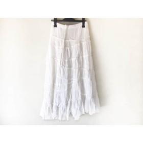 【中古】 アングリッド UNGRID ロングスカート サイズF レディース 白