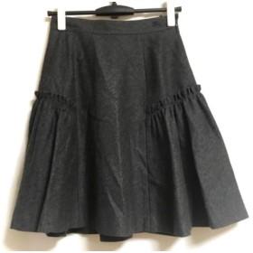 【中古】 バーバリーブルーレーベル Burberry Blue Label スカート サイズ38 M レディース グレー