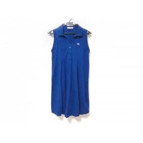 【中古】 ラコステ Lacoste ワンピース サイズ36 S レディース ブルー ポロシャツワンピ
