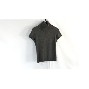 【中古】 トゥービーシック TO BE CHIC 半袖セーター サイズ2 M レディース 美品 グレー タートルネック