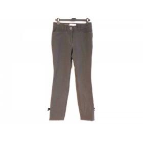 【中古】 ギャラリービスコンティ パンツ サイズ1 S レディース 黒 ブラウン 千鳥格子/リボン/ハート