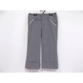 【中古】 アリスオリビア パンツ サイズ2 M レディース 美品 グレー ライトグレー ストライプ/FOR NAVE