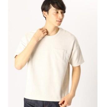 COMME CA ISM / コムサイズム ポケット付 ダブルフェイス Tシャツ