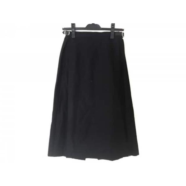 【中古】 オニール O'NEIL 巻きスカート サイズ38 M レディース 黒 プリーツ/フリンジ