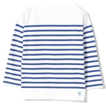 ORCIVAL / ラッセル ボーダー ロングスリーブ レディース Tシャツ WHITE/BLUE 2