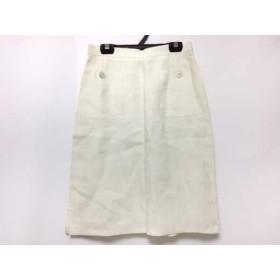 【中古】 マックスマーラ Max Mara スカート サイズ40 M レディース アイボリー リネン