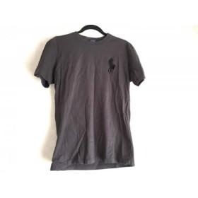 【中古】 ポロラルフローレン 半袖Tシャツ サイズL メンズ ビッグポニー ダークグレー 黒