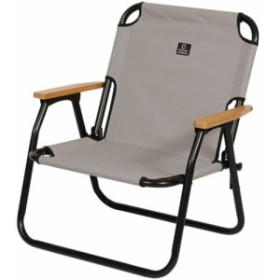 クイックキャンプ (QUICKCAMP) 一人掛け ローチェア グレー QC-ASC60 【アウトドア 軽量 折りたたみ クッション入り 椅子 イス アルミ