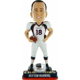 ボブルヘッドFOCO NFL Denver Broncos Peyton Manning #18 Super Bowl 50 Champions Bobble Head Toy, One Size