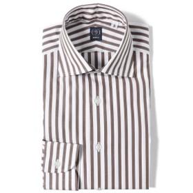 BEAMS F / ブロード ロンドンストライプ ワイドカラーシャツ メンズ ドレスシャツ BROWN/12 37