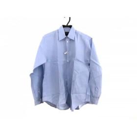 【中古】 ジョルジオアルマーニ GIORGIOARMANI 長袖シャツ サイズ38 M メンズ ライトブルー ブルー