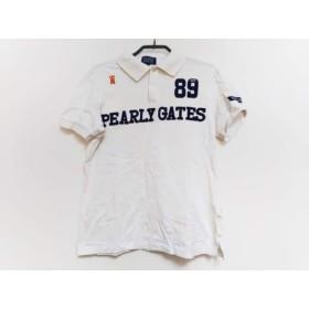 【中古】 パーリーゲイツ PEARLY GATES 半袖ポロシャツ サイズ4 XL メンズ 白 ダークネイビー