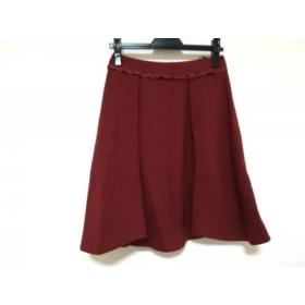 【中古】 エムズグレイシー M'S GRACY スカート サイズ28 L レディース 美品 レッド
