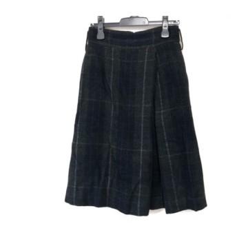 【中古】 トゥモローランド スカート サイズ36 S レディース 黒 白 ダークグリーン チェック柄