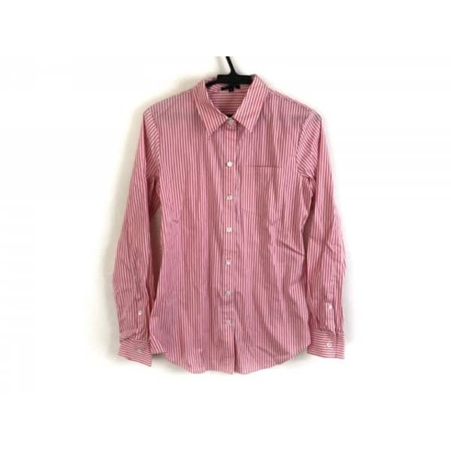 【中古】 セオリー theory 長袖シャツブラウス サイズS レディース 美品 白 ピンク ストライプ