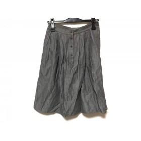 【中古】 マーガレットハウエル MargaretHowell スカート サイズ2 M レディース グレー ストライプ