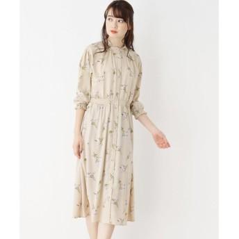index / インデックス 【洗濯機洗いOK】インナースカート付き 花柄スタンドワンピース