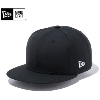 【メーカー取次】 NEW ERA ニューエラ 9FIFTY ベーシック ブラックXホワイトロゴ 12336636 キャップ メンズ レディース 無地 帽子 ブランド【Sx】